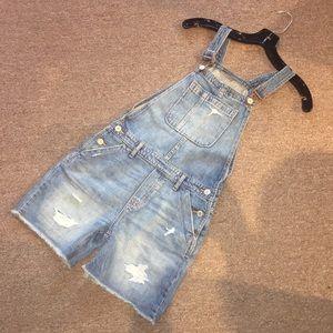 Gap Kids distressed overalls